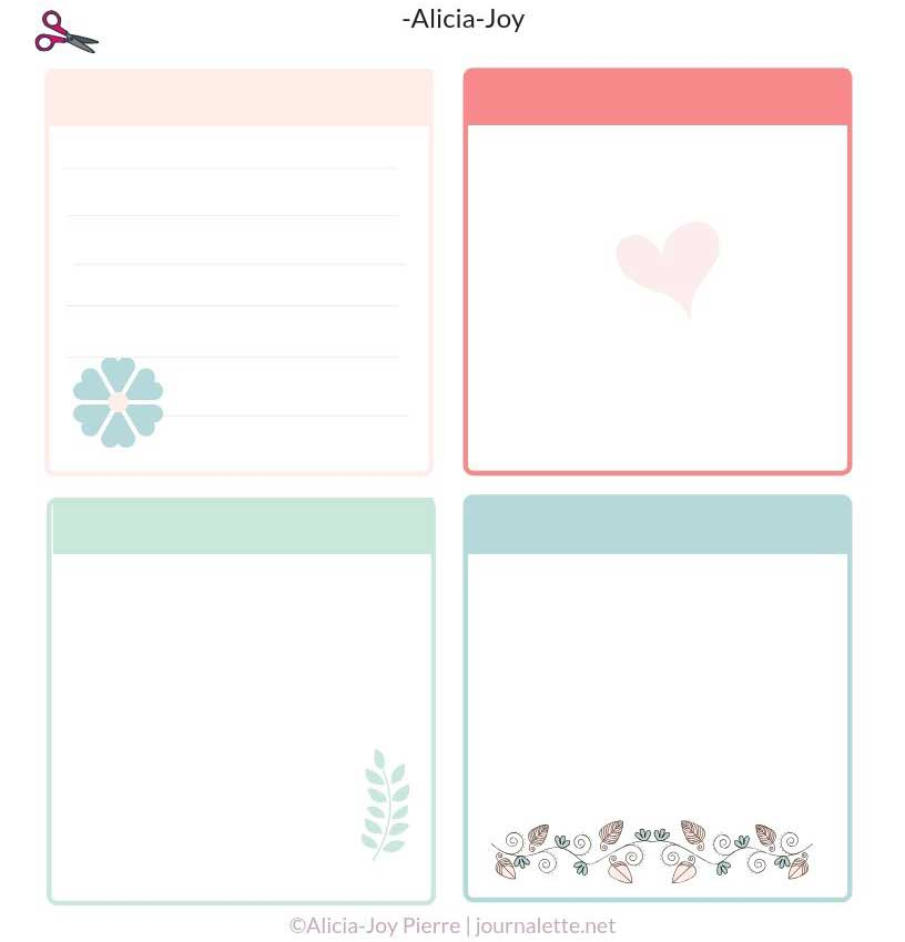 DIY journaling cards
