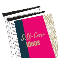image of self care ideas downloadable printable
