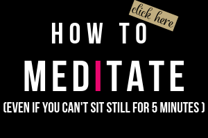 image with text how to meditate