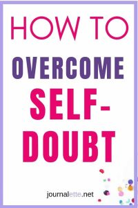 Image of text box with How to Overcome Self-Doubt