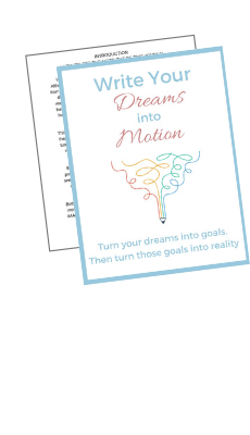 image of write your dreams into motion