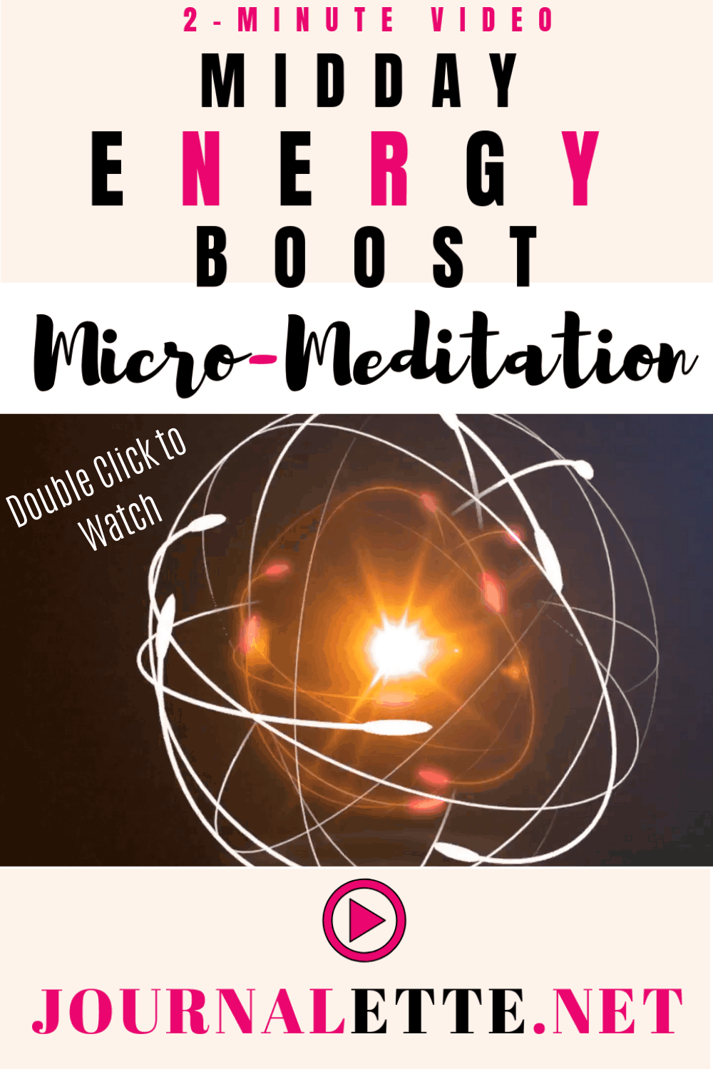 Image with text box Midday Energy Boost Meditation