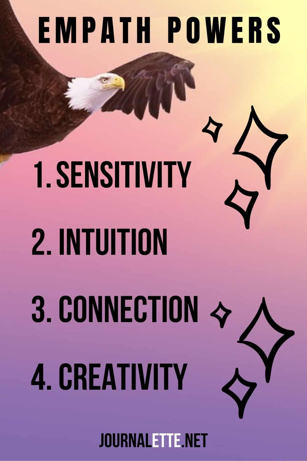 image with text empath powers and image of eagle