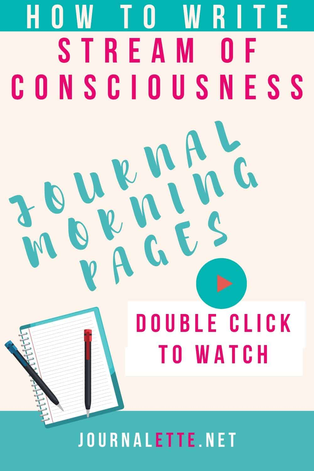 image of text box how to write stream of consciousness journal morning pages