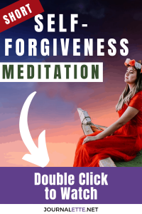 image of person on edge of boat with text self forgiveness meditation
