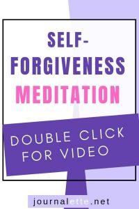 image of text box with self-forgiveness meditation